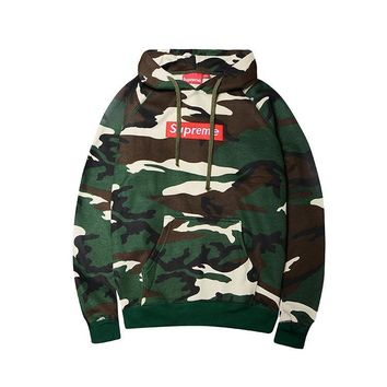 Unisex Supreme Camouflage Embroidery Hoodies [103851950092]