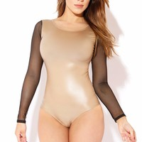 Barely Nude and Mesh Bodysuit