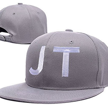 XINMEN Justin Timberlake Logo Adjustable Snapback Embroidery Hats Caps Grey