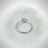 Super Thin Solid Silver Nose Ring Plain