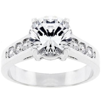 Cubic Zirconia Engagement Ring  - Cubic Zirconia Ring - Engagement Ring - Round Cut - Anniversary - Wedding Ring