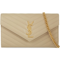 Monogramme quilted envelope clutch