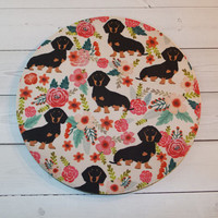 Dachshunds Mouse Pad mouse pad / Mat - Doxies mouse pad  -  round or rectangle - dog mousepad - petlover office accessories desk home decor
