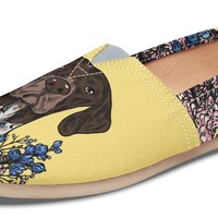 Illustrated German Shorthaired Pointer Casual Shoes