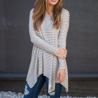 Just Swing It Tunic, Taupe