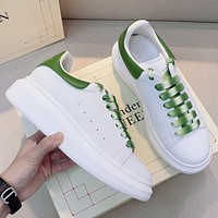 Alexander McQueen Hot Selling Classic Mens and Womens Platform Casual Shoes-17