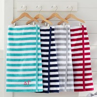 Greek Striped Bath Wrap