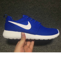 NIKE Women Men Running Roshe Sport Casual Shoes Sneakers blue  hook