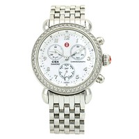 Michele CSX 36 Women's Chronograph Watch with Mother of Pearl and Diamonds