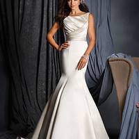 Alfred Angelo 2509 Satin Open Back Fit & Flare Wedding Dress