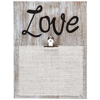 Washed White Love Plaque with Clip | Shop Hobby Lobby