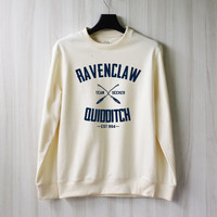 Ravenclaw Quidditch Harry Potter Shirt Sweatshirt Sweater Shirt – Size XS S M L XL