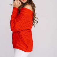 Sweater Chunky Red