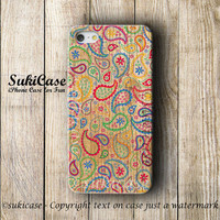 PAISLEY On WOODEN iPhone 5S CASE Vintage Wood Texture Colorful iPhone 4 Cases iPhone 5 Case iPhone Case iPhone 5c Case iPhone 4s Case