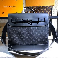 LV Louis Vuitton MONOGRAM CANVAS STEAMER HANDBAG INCLINED SHOULDER BAG