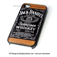 Jack Daniels Black Label iPhone 4 4S 5 5S 5C 6 6 Plus , iPod 4 5  , Samsung Galaxy S3 S4 S5 Note 3 Note 4 , and HTC One X M7 M8 Case