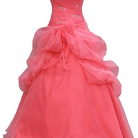 Faironly Hot Pink Strapless Prom Dress P3019 (M)