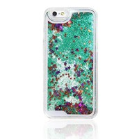GREEN GLITTER WATERFALL IPHONE 6S/6 CASE IPHONE 6S/6 PLUS CASE IPHONE 5S/5/5C CASE N0002