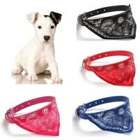 [flash Adjustable Pet Dog Cat Puppies Collars Scarf Triangle  Neckerchief Necklace = 5988060865
