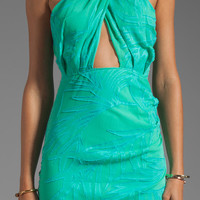 Maurie & Eve Onyx Cross Dress in Jade Palm from REVOLVEclothing.com
