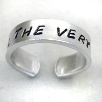 Hand Stamped Ring Until the Very End Harry Potter by foxwise