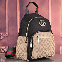 Gucci Women Leather Shoulder Bag Satchel Handbag Backpack