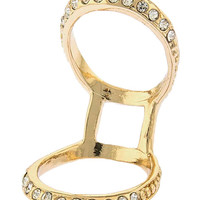 Crystal Encrusted Double Ring