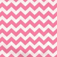 SheetWorld Fitted Bassinet Sheet - Bubble Gum Pink Chevron Zigzag - Made In USA