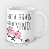 MULAN...  a girl whose got a brain, whose always speaks her mind.. Mug by studiomarshallarts