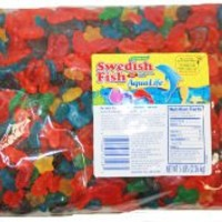 Candy AQUA LIFE Gummy Swedish Fish, 5 Lb