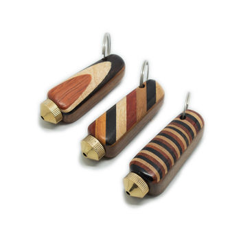 Portable Wood Keychain Pipe - Screw Top - 2.5 Inches - Assorted Colors