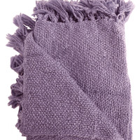 Marion Purple Boucle Throw