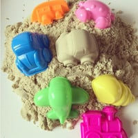 6pcs Ocean Sky Land Play Dough Plasticine Mold Magic beach Sand Mold for Children Indoor Miracle Play Toy Mould Cartoon DIY Sets