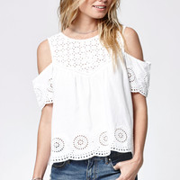 Rip Curl Havana Embroidered Cold Shoulder Top at PacSun.com