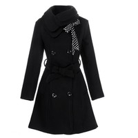 New Luxury Winter Coat Women Double-breasted Wool Winter Jacket and Coats 4 Colors Plus Size Wool Coat Casaco Feminino Overcoat