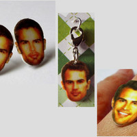 Divergent Theo James Jewelry Set Earrings Ring and Charm Novelty Gift
