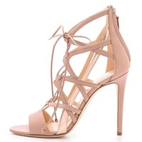 Boomerang Lace Up Sandals