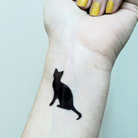 Cat Tattoo - Temporary Tattoo - Kitty Cat Tat - Cattoo