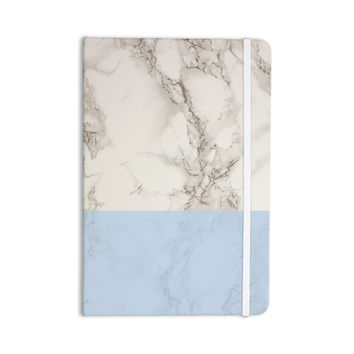 """Suzanne Carter """"Marble And Blue Block"""" Modern Gray Everything Notebook"""