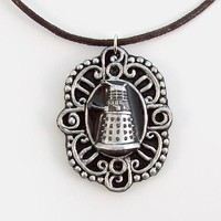 Dalek (Doctor Who's Villain) Victorian Cameo Pendant and Necklace