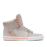 WOMENS VAIDER CEMENT / CORAL - WHITE | Official SUPRA Footwear Site