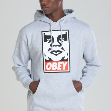 OBEY ICON FACE PULLOVER HOOD SWEATSHIRT