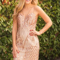 BRING IN THE NEW YEAR DRESS - ROSE GOLD
