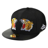 Trendy Winter Jacket CERU002 Fashion Solid Black Tiger Embroidery Hip Hop Women's Hats Snapback Men Cotton Baseball Caps Casquette Bone Gorros AT_92_12