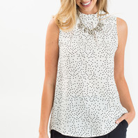 Maia Black and White Polka Dot Top