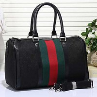Gucci Women Leather Luggage Travel Bags Tote Handbag Tagre™
