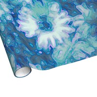 Blue Daisy Wrapping Paper