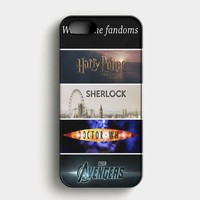 Fandoms Harry Potter Sherlock Doctor Who Avengers iPhone SE Case