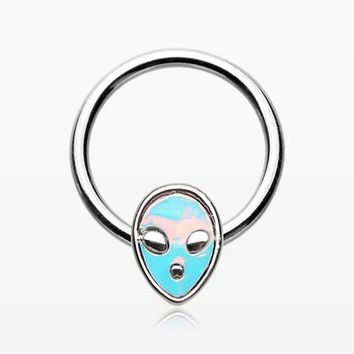 Iridescent Alien Revo Captive Bead Ring