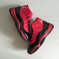 Air Jordan 11 Retro Red Black Men Sneakers - Best Deal Online